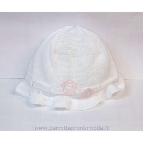 Cappellino battesimo neonata L'ORSETTO art. 40108