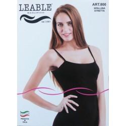 Canotta donna spallina stretta 3 pezzi LEABLE art. 800