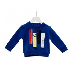 Felpa bambino con stampa logo ICEBERG art. GFICE117BM