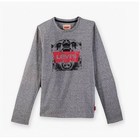 T-Shirt ragazzo manica lunga con stampa LEVI'S art. NK 10047