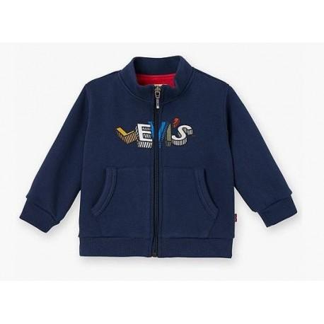 Cardigan neonato con zip e stampa LEVI'S art. NK 17004