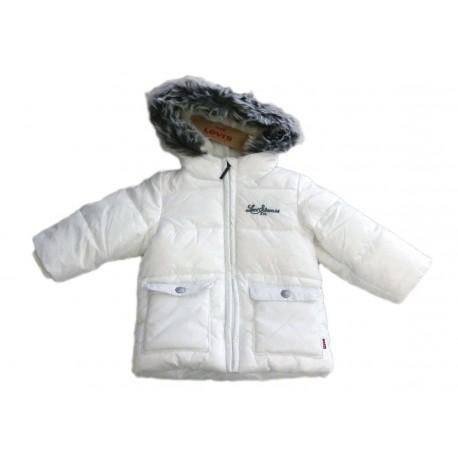 Giubbotto bambina con cappuccio e pelliccia LEVI'S art. NK 41514
