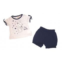 Completo corto in jersey femminuccia PASTELLO art. CC1O