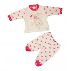 Completo clinica in jersey femminuccia PASTELLO art. CJ8O