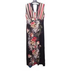 Vestito lungo donna con coppe a righe KAJAL art. 9349/JT