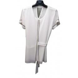 Camicia donna con microstrass ematite KAJAL art. 9019/GU