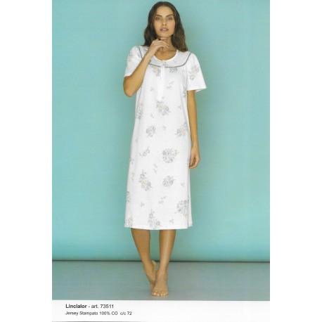 Camicia da notte raglan con stampa LINCLALOR art. 73511