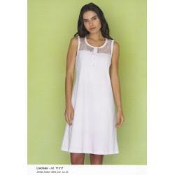 Camicia da notte senza maniche con macrame' LINCLALOR art. 71017