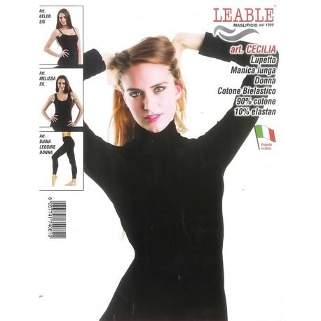 Lupetto donna manica lunga conf. 3 pezzi LEABLE art. CECILIA