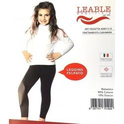 Leggings bambina felpati LEABLE art. VIOLETTA