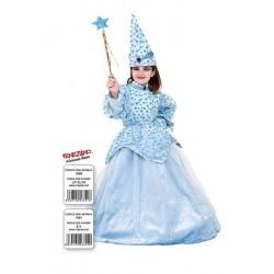 Costume di carnevale Fatina azzurra in velluto CARNEVALE VENEZIANO art. 1041