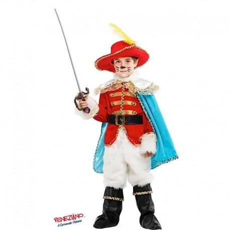 Costume di carnevale Gatto con gli stivali lusso CARNEVALE VENEZIANO art. 53223