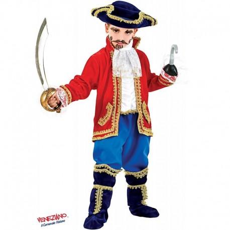 Costume di carnevale Capitano in velluto CARNEVALE VENEZIANO art. 1059