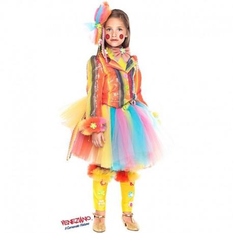 Costume di carnevale Pagliaccetta prestige ragazza CARNEVALE VENEZIANO art. 28037