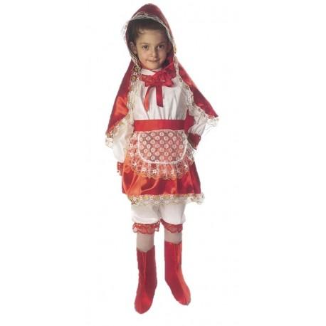 Costume di carnevale Piccola Cappuccetto rosso IL GIULLARE art. 018