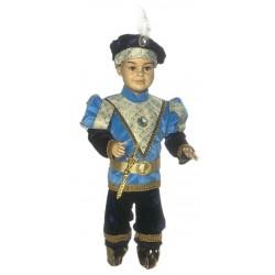 Costume di carnevale Principe di Francia IL GIULLARE art. 039