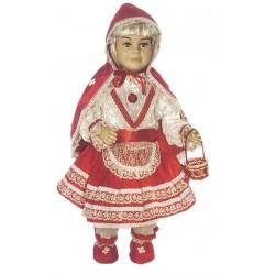 Costume di carnevale Cappuccetto rosso baby lusso IL GIULLARE art. 047