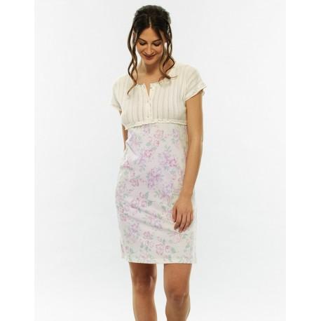 Camicia da notte con stampa floreale LOVABLE art. L07T7