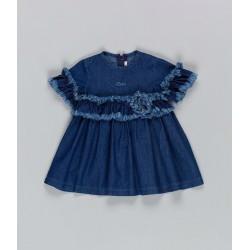 Vestito denim leBebé art. LBG1965