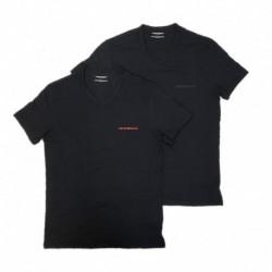 Set da 2 t-shirt uomo scollo a V con logo EMPORIO ARMANI art. 111849-9A717
