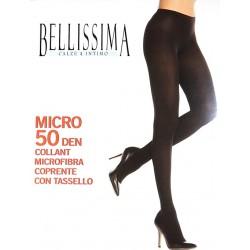 Collant coprente opaco con tassello BELLISSIMA art. MICRO 50