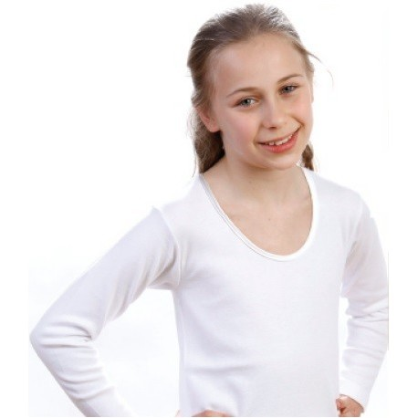 Tshirt bambina manica lunga conf. 3 pezzi LEABLE art. 217