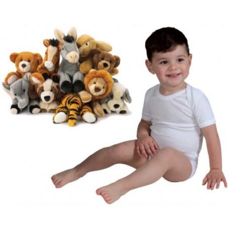 Body americano neonato unisex manica corta conf. 3 pezzi LEABLE art. 2029