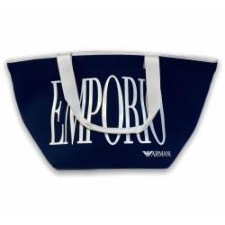 Borsa mare con logo Emporio Armani